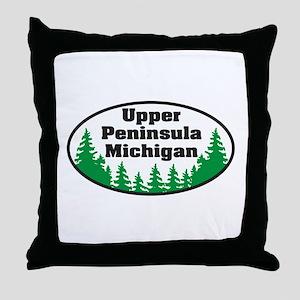 Upper Peninsula Throw Pillow