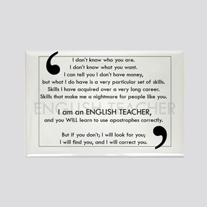 I Will Find You - Apostrophes Rectangle Magnet