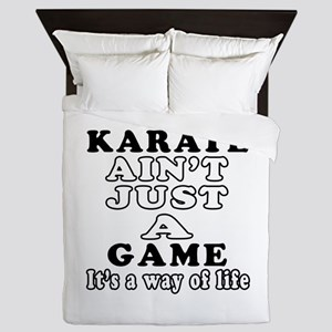 Karate ain't just a game Queen Duvet