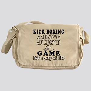Kick Boxing ain't just a game Messenger Bag