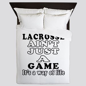 Lacrosse ain't just a game Queen Duvet