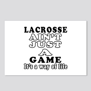 Lacrosse ain't just a game Postcards (Package of 8
