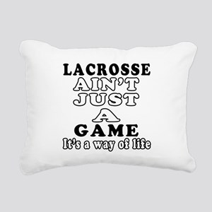 Lacrosse ain't just a game Rectangular Canvas Pill