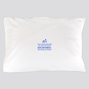 dos-boobies-times-blue Pillow Case