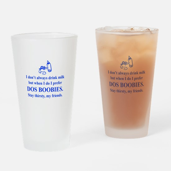 dos-boobies-times-blue Drinking Glass