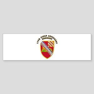 Artillery - 17th Field Artillery Regiment Sticker