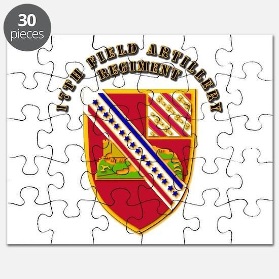 Artillery - 17th Field Artillery Regiment Puzzle