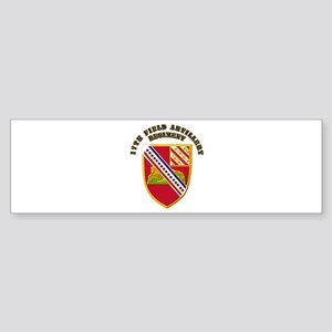 Artillery - 17th Field Artillery Regiment Sticker