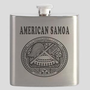 American Samoa Coat Of Arms Designs Flask
