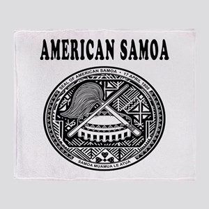American Samoa Coat Of Arms Designs Throw Blanket