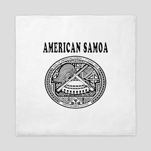 American Samoa Coat Of Arms Designs Queen Duvet