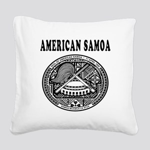 American Samoa Coat Of Arms Designs Square Canvas