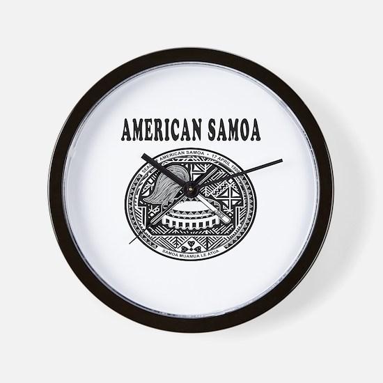 American Samoa Coat Of Arms Designs Wall Clock