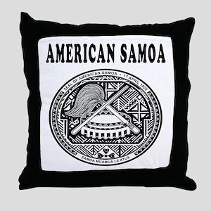 American Samoa Coat Of Arms Designs Throw Pillow