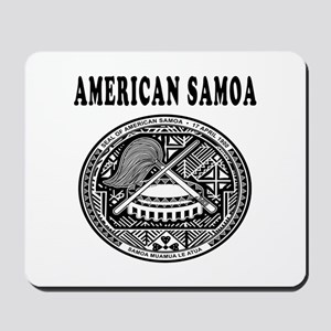 American Samoa Coat Of Arms Designs Mousepad