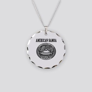 American Samoa Coat Of Arms Designs Necklace Circl