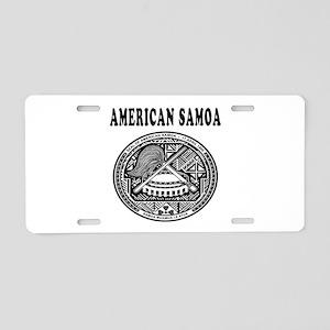 American Samoa Coat Of Arms Designs Aluminum Licen