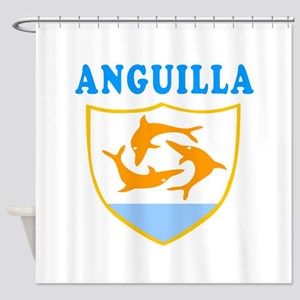 Anguilla Samoa Coat Of Arms Designs Shower Curtain