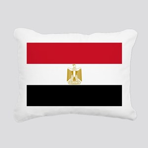Flag of Egypt Rectangular Canvas Pillow