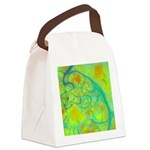 The Green Earth Abstract Canvas Lunch Bag