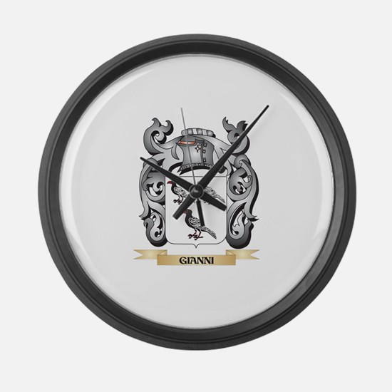Gianni Coat of Arms - Family Cres Large Wall Clock