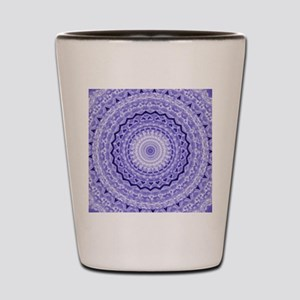 Purple Heart Mandala Shot Glass
