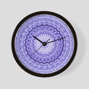 Purple Heart Mandala Wall Clock