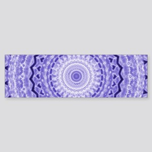 Purple Heart Mandala Bumper Sticker