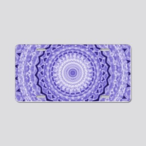 Purple Heart Mandala Aluminum License Plate