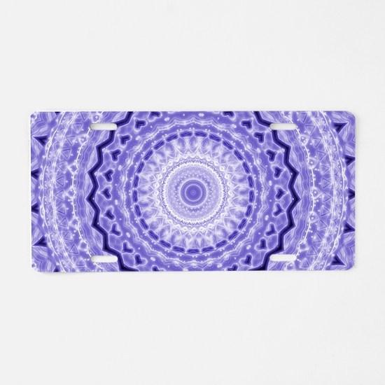 Purple Heart Mandala Aluminum License Plate