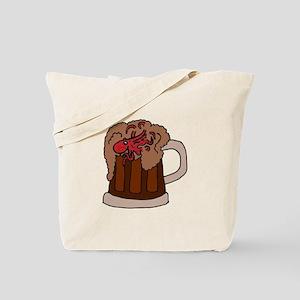Octopus in Beer Mug Tote Bag