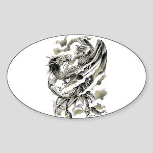 Dragon Phoenix Tattoo Art A4 Sticker