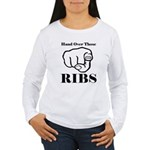 Hand over those ribs Long Sleeve T-Shirt