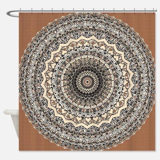 Bygone Love Mandala Shower Curtain