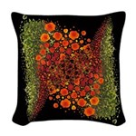 Paths of Color [R.O.G.] Woven Throw Pillow black