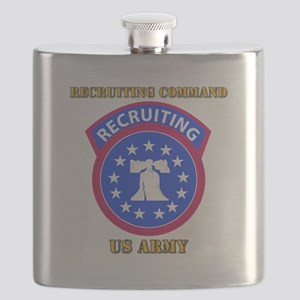SSI - Army - Recruiting Command with Text Flask