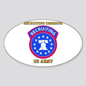 SSI - Army - Recruiting Command with Text Sticker