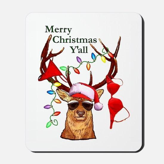 Stag man Christmas Mousepad