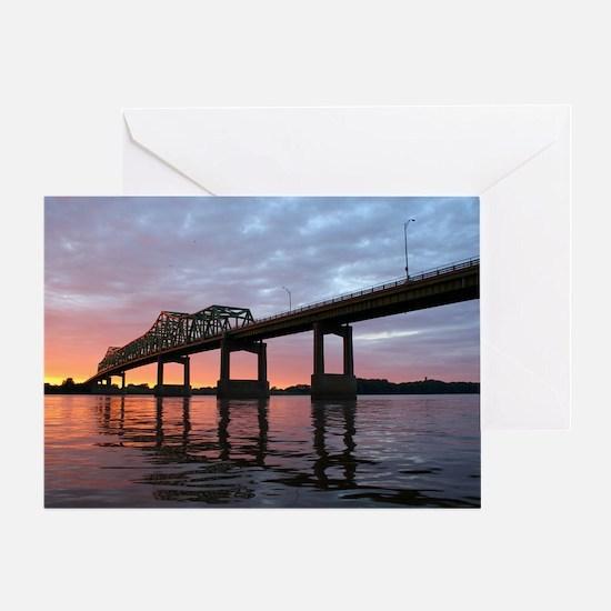 Clinton Bridge Greeting Card