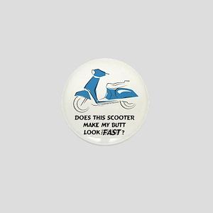 Fast Butt (Blue) Mini Button