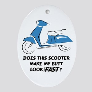 Fast Butt (Blue) Oval Ornament