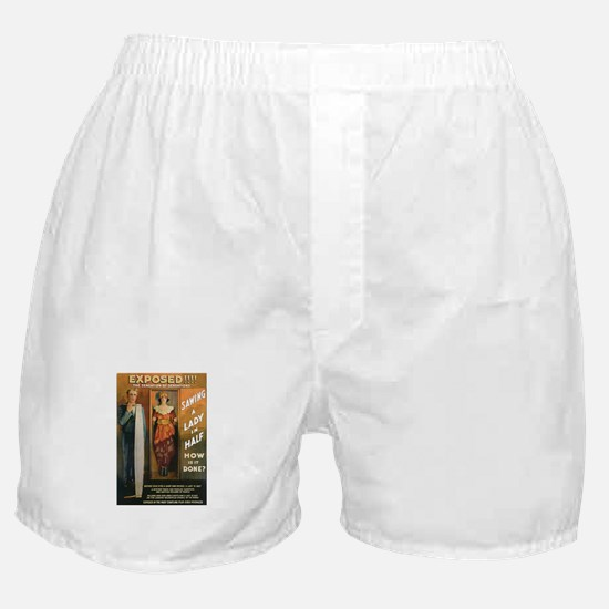 Sawing a Lady in Half Boxer Shorts