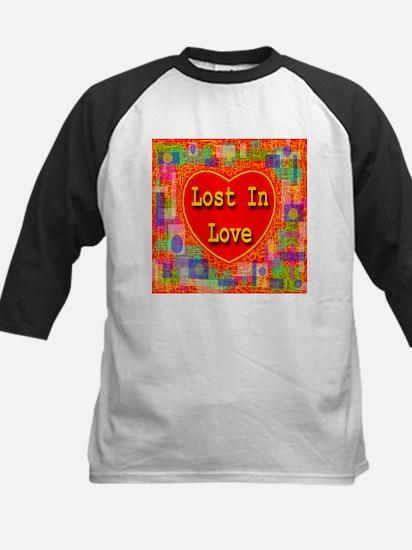 Lost In Love Kids Baseball Jersey