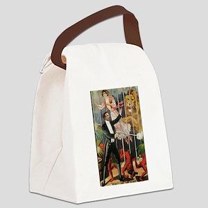 Magician, Woman, Lion & Devils Canvas Lunch Bag