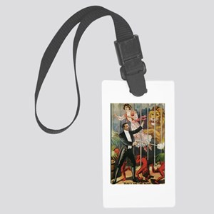 Magician, Woman, Lion & Devils Large Luggage Tag