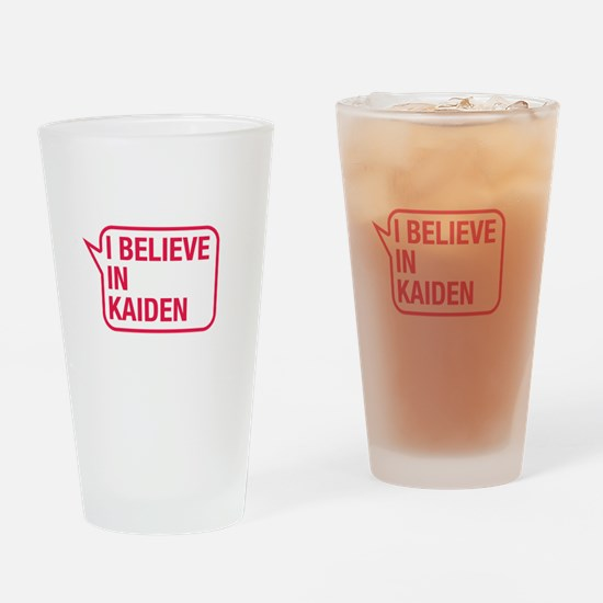 I Believe In Kaiden Drinking Glass