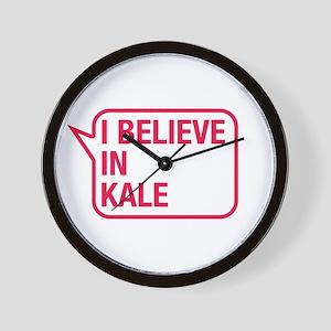 I Believe In Kale Wall Clock