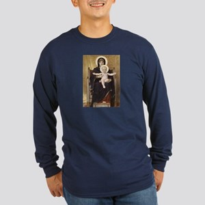 Seated Madonna Long Sleeve Dark T-Shirt