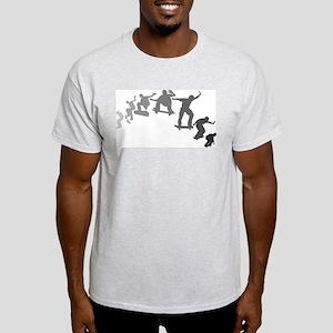 Skateboarding Ash Grey T-Shirt