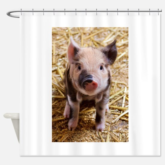 This Little Piggy Shower Curtain